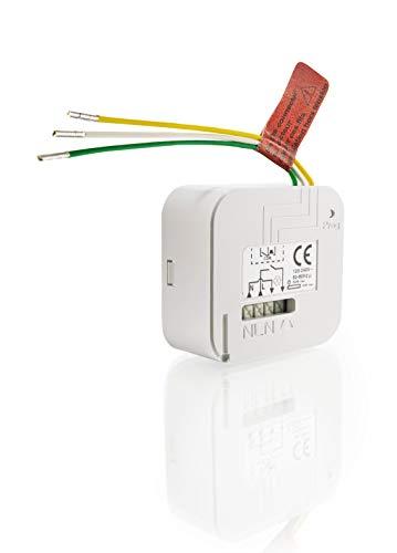 Somfy 2401161 Micro Funkempfänger Unterputz Lighting Inwall Receiver RTS für Licht, 500 W, 230 V, weiß