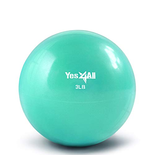 Yes4All Soft Weighted Toning Ball / Soft Medicine Sand Ball – Great for Exercise, Workout, Physical Therapy – Soft Weighted Ball (8 lbs, Purple)