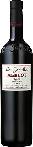 6x 0,75l - 2017er - Les Jamelles - Merlot - Pays d\'Oc I.G.P. - Languedoc - Frankreich - Rotwein trocken