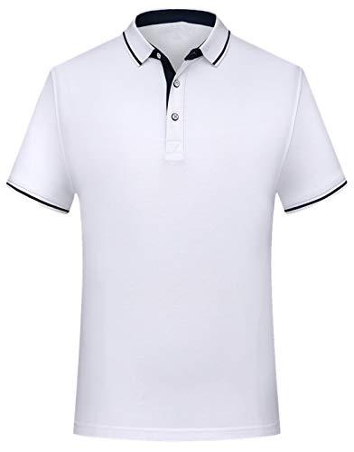 YOSICIL Herren Poloshirt Golf Business Freizeit Sommer Kurzarm Polohemd Berufsbekleidung Polo Shirt mit Streifen Neun Farben auswählbar in Größe S-4XL