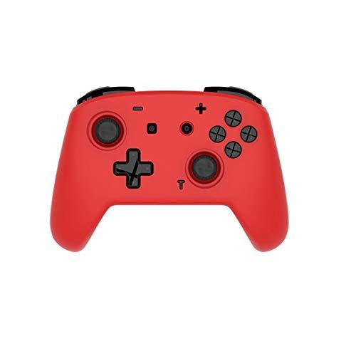 HUDEMR Gamepads Somatosensoriel Double Vibration Gamepad Manette sans Fil Jeu Peut être utilisé for déplacer Les Ordinateurs contrôleur Joystick (Color : Red, Size : 15.4x11.1x5.9cm)