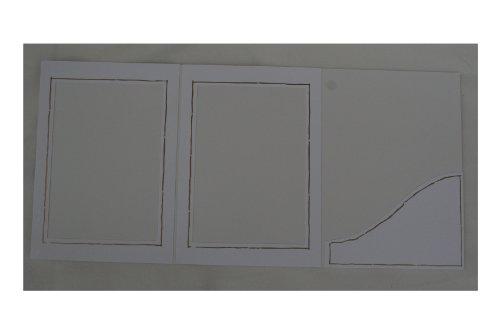 Webafi 10 weiße Verkaufsmappen Leporellos Bildermappen Fotoalbum Foto - Portraitmappe Fotomappen Passepartouts Bildformat 13 x 18 cm, Goldstrich