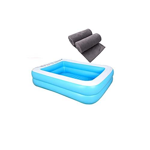 Backboards Piscina Hinchable,Portátil Desmontables Bañera,Easy Set Acuario Piscina,con Toallas de Baño,para Niños Adultos Bebés Adolescentes,128cm(50inch)