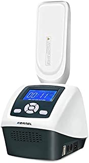 Portable UV Phototherapy Light Home UV Lamp with Two Philips Bulbs/Digital Timer Control/Voice Prompt Function/311nm Narrowband
