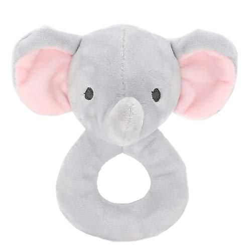 Agarre de la mano Juguete calmante Apaciguar Juguete Animal Sonajero Muñeco de peluche para bebés (elefante)