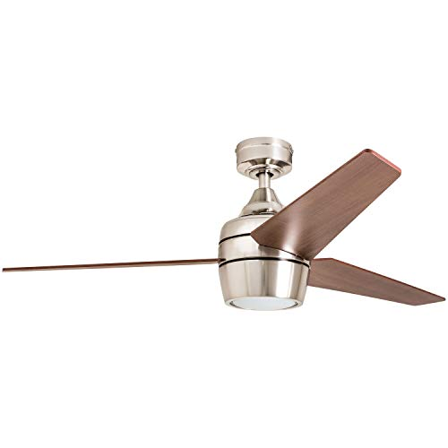 Honeywell Ceiling Fans 50604-01 Eamon Ceiling Fan, 52', Brushed Nickel
