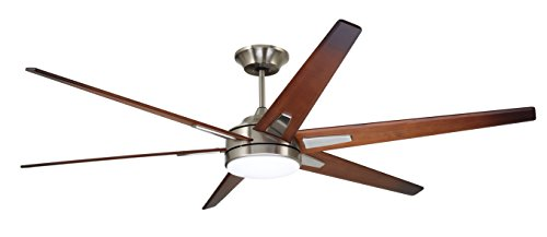 Emerson CF915W72BS 72-inch Modern Rah Eco Ceiling Fan, 6-Blade Ceiling Fan with LED Lighting and 6-Speed Wall Control Ceiling Fans