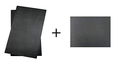 BiMordiscos Pack für Kydex-Hüllen: Kydex Platte Schwarz von 1,8 mm und 2 Bögen Formmaterial (Eva Rubber)