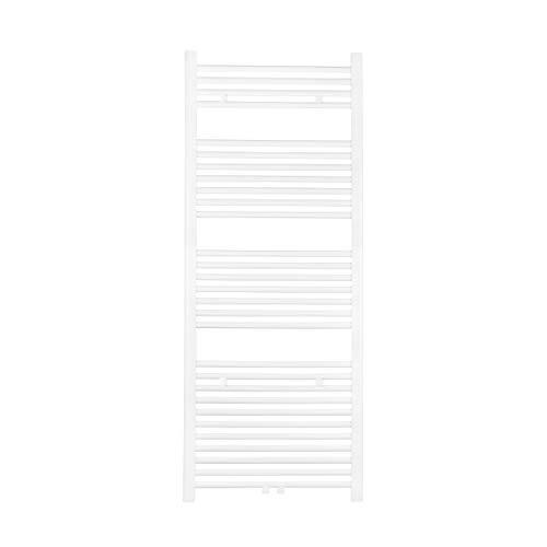 VILSTEIN Handtuchheizkörper, Flach, Weiß, Seitenanschluss und Mittelanschluss, 1500x600 mm