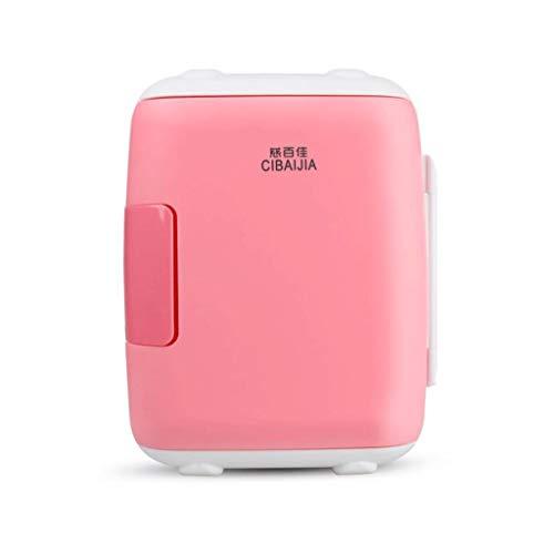 Draagbare koelbox, koelkast voor auto, elektrische koelkast, koelkast, huis, camper, koelkast, koelkast, 5 l, 12 V / 220 V PINK