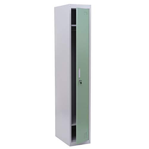 Mendler Spind Boston T163, Garderobenschrank Kleiderspind Umkleideschrank, Metall 180x30x50cm nach ASR A4.1 ~ Mint-grün
