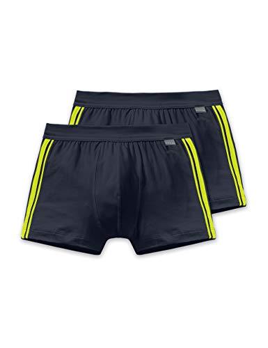 Schiesser Herren Shorts 2er Pack, Schwarz (blauschwarz 001), Medium (Herstellergröße: 005)