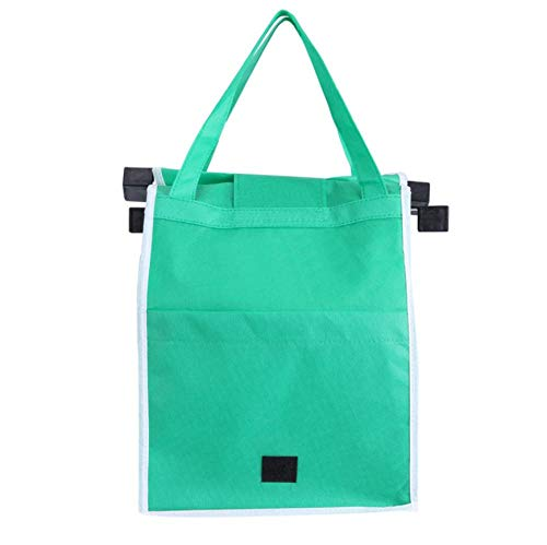 Yiiuii Super Thick Shopping cart Shopping Bag eco-Friendly Foldable Reusable Store Handbag Portable Grocery Store Trolley case