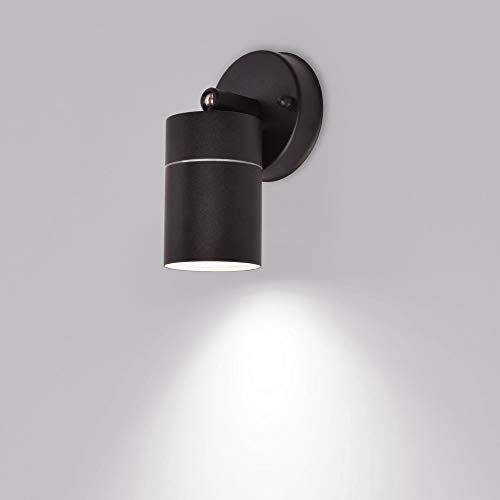 Aussenleuchte 109B-B Schwenkbar Wandleuchte Wegeleuchte Wandlampe Aussenwandleuchte Schwarz GU10 Fassung