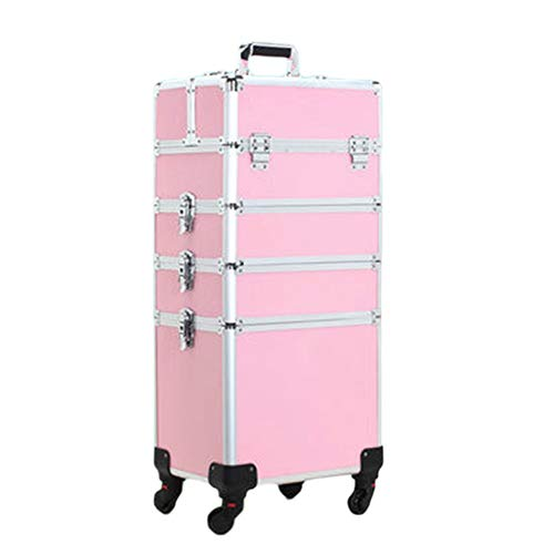 Cosmeticakoffer trolley Roll make-up gevallen make-up trolley Cosmetic Organizer reistas afneembare universele wielen rolling make-up train case