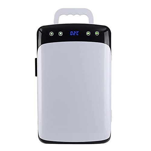 BIIII Refrigeradores de coche de 12 litros, refrigerador compacto de una puerta pequeña, portátil, pequeño congelador