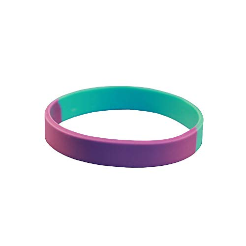 Reminderband - Suicide Prevention 100% Silicone Wristband - Blank - Silicone Rubber Bracelet - Events, Gifts, Support, Causes, Fundraisers, Awareness - Men, Women, Kids - Teal/Purple