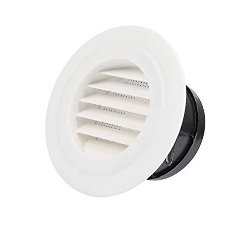 Round Air Vents Louver, Thicker Soffit Vent Cover Grille Cap with Built-in Fly Screen Mesh,4 Inch, Circular…