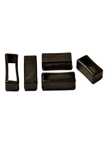 PVC Taucher Uhrenarmband Schlaufen Schwarz 16-18-20-22-24mm Armband Band Keepers 22mm
