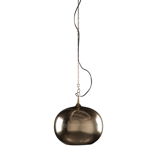 Zuiver PENDANT LAMP HAMERED ROUND BRASS, messing, E27