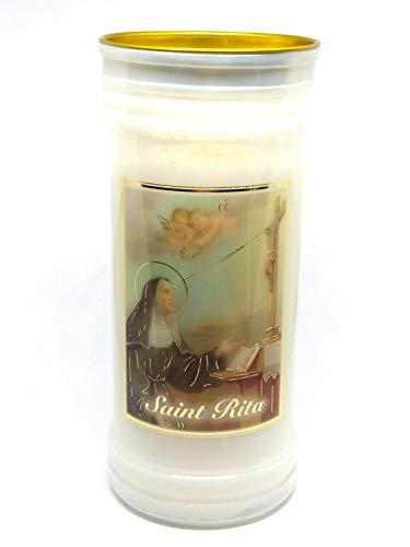 Gebet zu St. Rita 72 Stunde Burn Kerze Saint Katholische 15cm Weiß