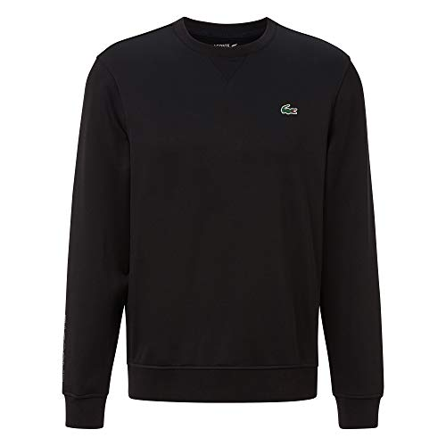 Lacoste Pull pour homme SH6782 - Col rond - En tricot - Coupe droite - Noir - S