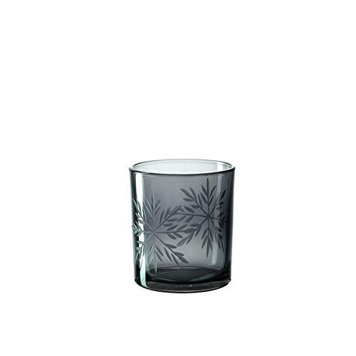Leonardo - Vivo - Tischlicht/Teelichthalter - Glas - Schwarz - (HxBxT) 8 x 7 x 7 cm/Ø 7 cm