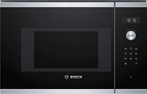 Bosch BFL524MS0 Serie 6 Einbau-Mikrowelle / 900 W / 20 L / Drehteller 25,5 cm / Türanschlag Links / Edelstahl / AutoPilot 7 / Elektronische Türöffnung