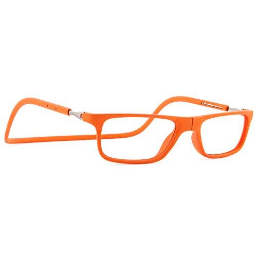 DIDINSKY Magnetische Blaulichtfilter Brille für Damen und Herren. Blaufilter Brille für Gaming oder Pc. Gummi-Touch-Tempel und Blendschutzgläser. Carrot +2.0 FARADAY