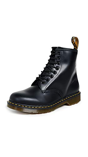 Dr. Martens, Unisex 1460 8 Eye Boot, Black Smooth, 11 US Women/10 US Men