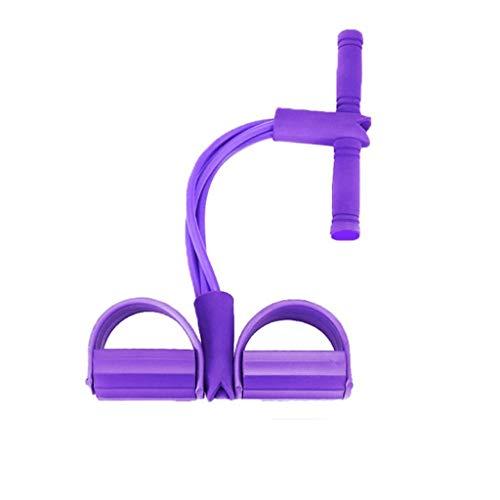 Körpermitte & Bauch Trainer, Fitness Fuss Pedal Widerstand Bänder, Hochfester Fußbauch-Trainer Sit-up-Brust-Fitness-Schönheits-Beinausrüstung