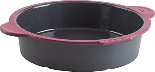 Trudeau 09914011 - Teglia rotonda in silicone, colore: Grigio/Rosa