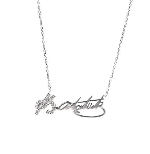 Remi Bijou 925 Sterling Silber Halskette Kette Anhänger - Atatürk Türkei Türkisch