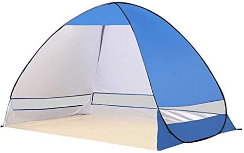 SHWYSHOP Tiendas de campaña para Acampar Tienda de campaña Sombrilla de Playa Toldo Exterior Cabina UPF 50+ Parasol Portátil Camping Pesca Senderismo Canopy Automa