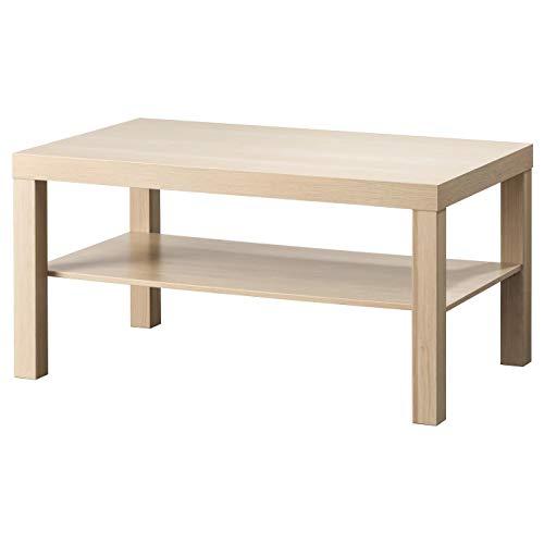 My- Stylo Collection Tavolino da salotto effetto rovere tinto bianco, Dimensioni prodotto: Lunghezza: 90 cm Larghezza: 55 cm