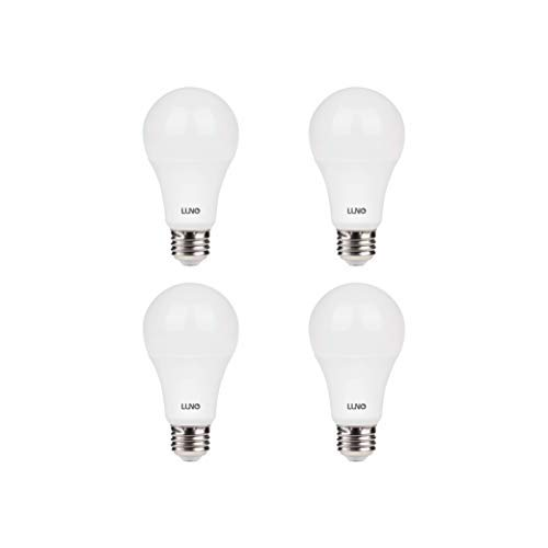 LUNO A19 Dimmable LED Bulb, 11W (75W Equivalent), 1100 Lumens, 2700K (Soft White), Medium Base (E26),UL & ENERGY STAR (4-Pack)
