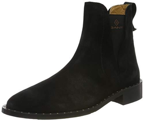 GANT Footwear Damen Hampton Chelsea Boots, Schwarz (Black G00), 40 EU