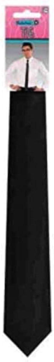 amscan 843009 Long Black Narrow Tie, 1 Piece ,30