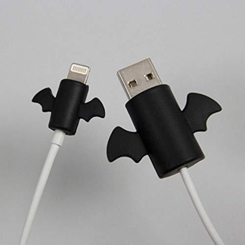 douzxc 2PCS Evitan daños en el protector de cable para el protector de cable de datos Cubierta de cable de cargador USB de silicona