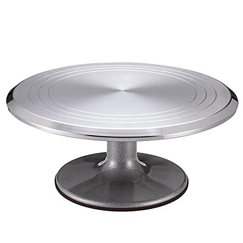 Duodo Soporte giratorio para tartas de 30 cm, aleación de aluminio de 30 cm