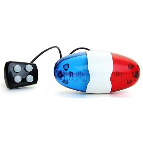 CLTYQ Cuerno de la Bicicleta de la Bicicleta Campana electrónica Siren timbres de Bicicleta para niños Accesorios de la Bici, 6 Luz 4 Tono