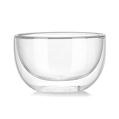 Xushiwanju Alto Borosilicate Cuenco de Vidrio Resistente al Calor Ensalada de Vidrio Resistente al Calor Cuenco Transparente Fruta Contenedor de Alimentos Hogar Vajilla (Color : 250ml)