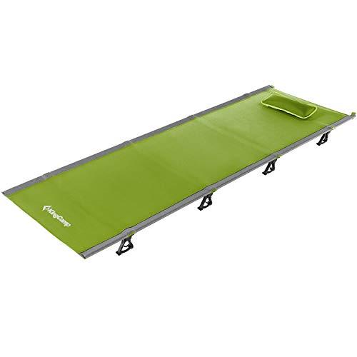 KingCamp Ultraligero Cama plegable portátil de cama de camping con capacidad de peso de 120 Kg para el jardín de playa de camping al aire libre en interiores