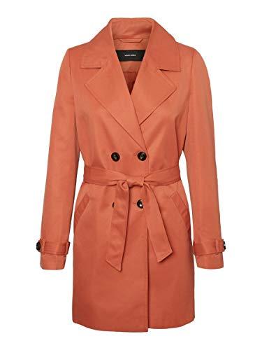 Vero Moda Vmberta 3/4 Jacket Col Gabardina, Rojo, S para Mujer