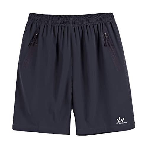 Bermuda Homme Sport Ete Pas Cher,Short De Plage Pantalon Court Chic Casual Grand Taille Taille éLastiquéE Respirant Fast-Drying Shorts