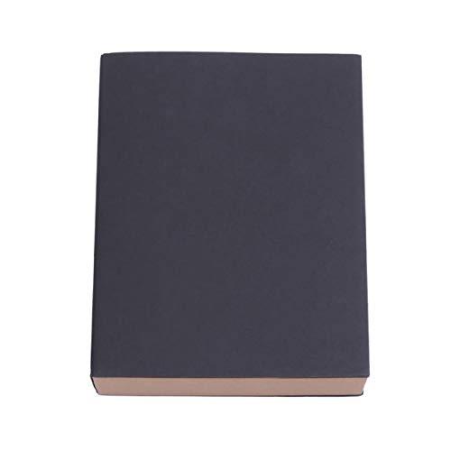 STOBOK Papel Kraft Cuaderno de Bocetos A5 Cuaderno de Dibujo Dibujo en Blanco Cuaderno Pintado a Mano Arte Pintura Escritura Diario Bloc de Notas Negro