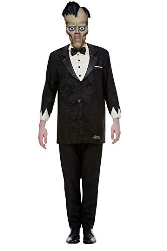 Smiffys 52237L Disfraz de Addams con licencia oficial, para hombre, negro, talla L, 106,68-111,76 cm