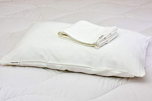 Revolana sous-taie de Protection d'oreiller absorbante 100% Coton Bio - 60x60cm