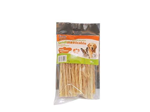 300 Snack Palitos Masticables Naturales para Perros Tasty SanDimas - 12 Bolsas x 25 uds (12 x 125 gr).