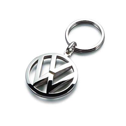 Volkswagen Metal Key Chain Keyring Fob Silver